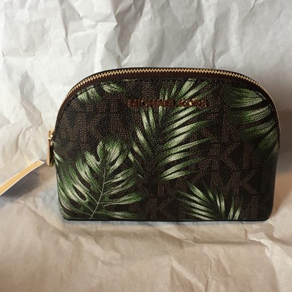 8b9660c31793 Michael Kors Jet Set Palm Tree Travel Cosmetic Bag